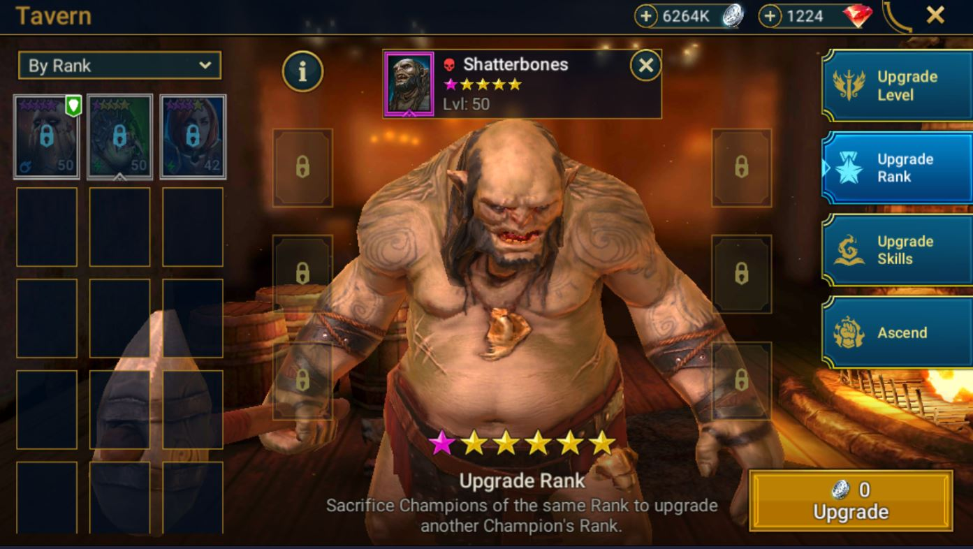 Raid: Shadow Legends Community   Game Discussion   6 stars rank up